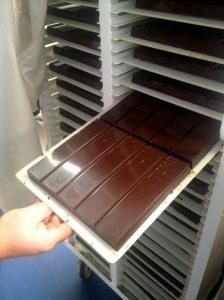 Finished chocolate bar, yummy