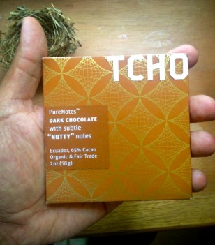 Tcho's dark chocolate form Ecuador