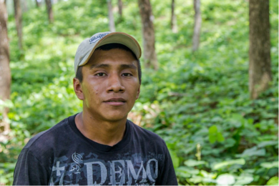 Name: Jose Alvez Age: 22  Place of Residence: Seja Languages Spoken: Español Time Spent on Izabal Agroforest: 5 years Jobs: Brush control, planting seedlings, prune cacao Other Employment: Has worked on other farms Future Plans: He says he's hoping for good luck in the future, so he can provide a nice life for himself. Opinion on Izabal Agroforest: He says they different plants here, and lots of different types of work to do.